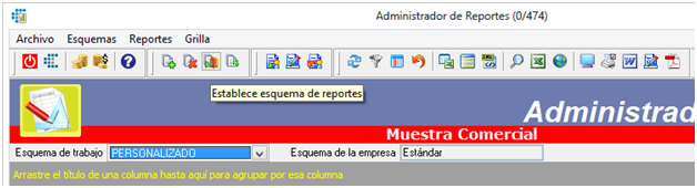 Establecer esquema de reportes