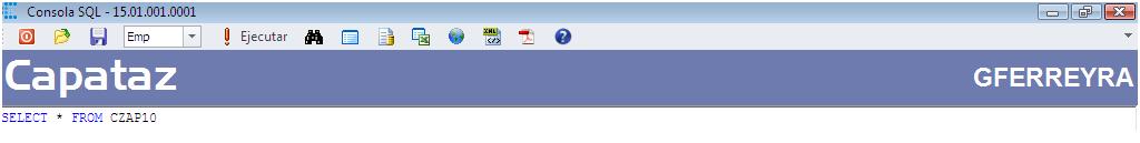 Consola SQL - Encabezado