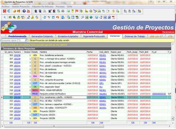Cotización - Software gestión de obras y proyectos