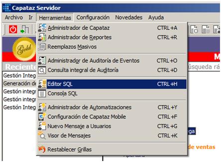 Personalizaciones CAPATAZ: Componentes SQL