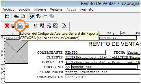 Acceso desde Administrador de Reportes