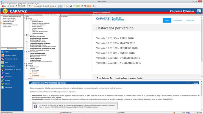 Novedad Capataz Software 2016