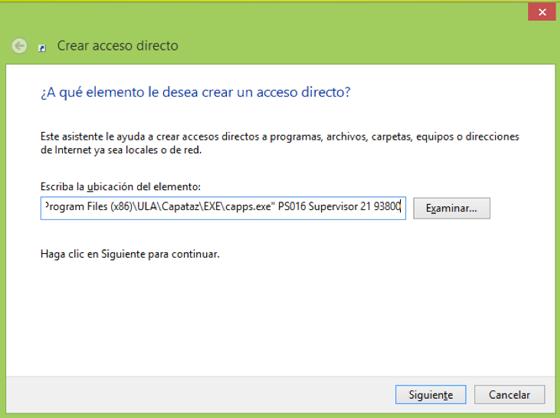 Crear Acceso Directo en CAPATAZ Software