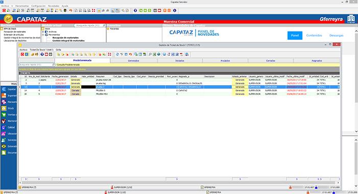 Novedad CAPATAZ Software 2017