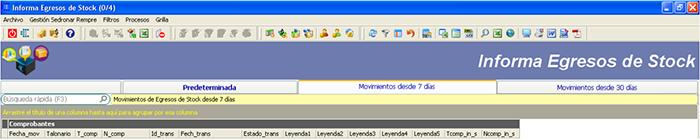 CAPATAZ Software Calidad · Proceso Sedronar RENPRE: Informar Egresos de Stock