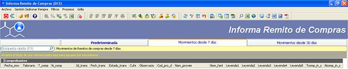 CAPATAZ Software Calidad · Proceso Sedronar RENPRE: Informar Remitos de Compras