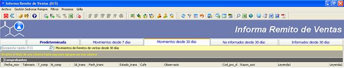 CAPATAZ Software Calidad · Proceso Sedronar RENPRE: Informar Remitos de Ventas